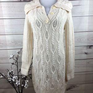 Sweater dress cream